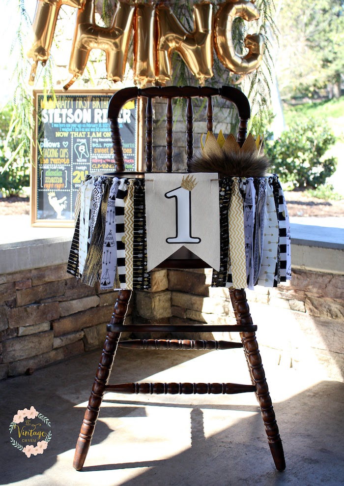 "Highchair from a ""Where the Wild Things Are"" Birthday Party on Kara's Party Ideas 