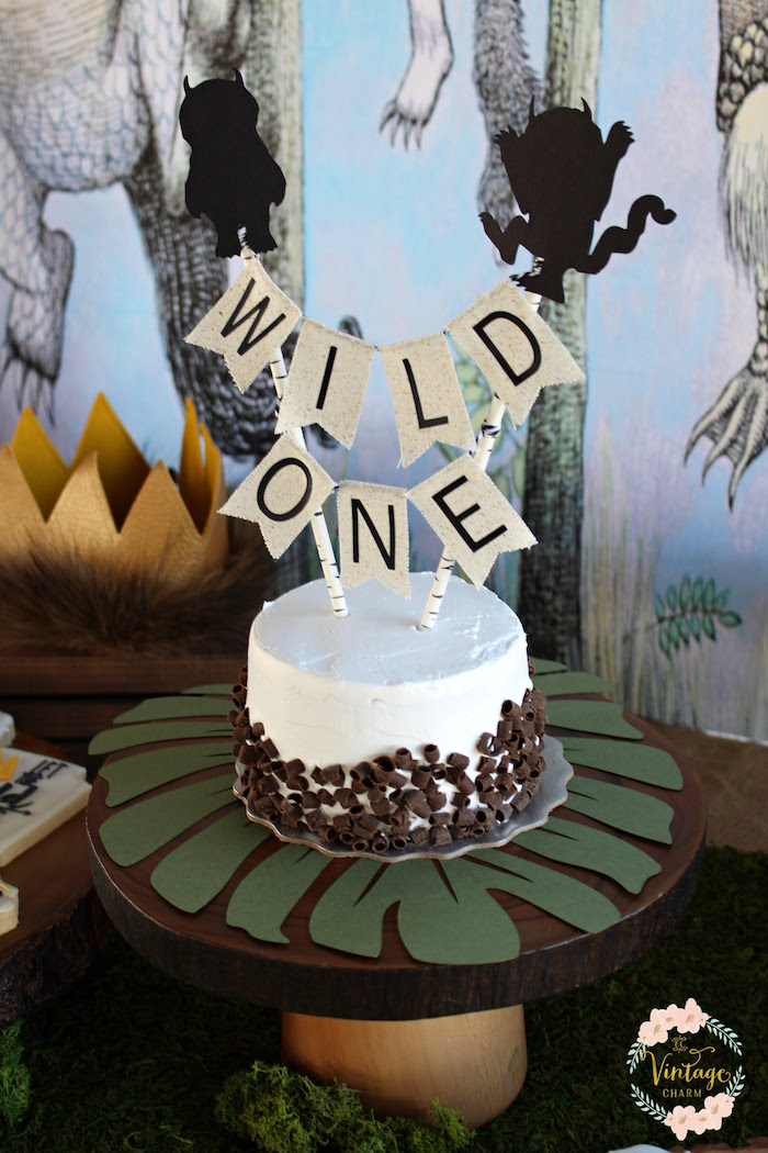 "Wild One Cake from a ""Where the Wild Things Are"" Birthday Party on Kara's Party Ideas 