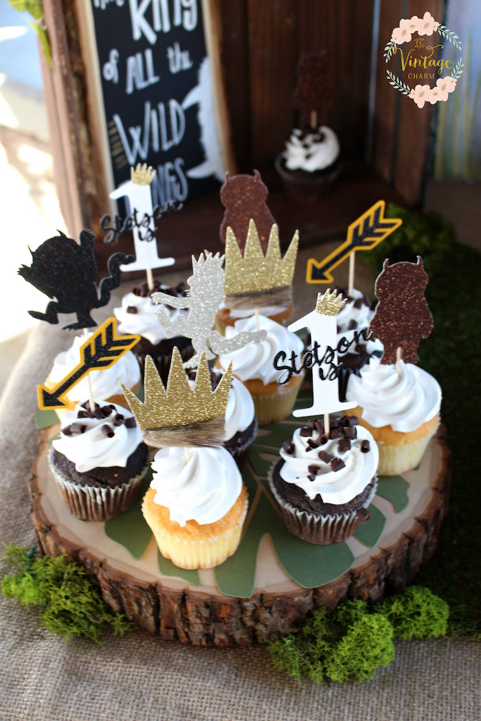 "Wild Things Cupcakes from a ""Where the Wild Things Are"" Birthday Party on Kara's Party Ideas 