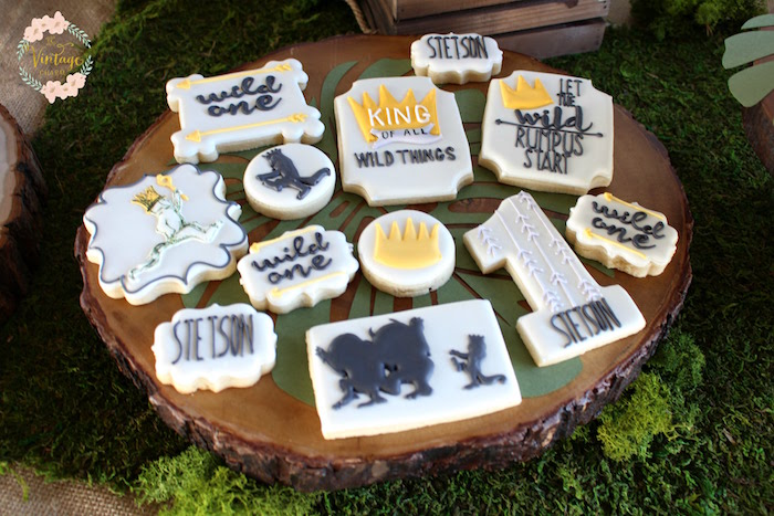 "Wild Things Cookies from a ""Where the Wild Things Are"" Birthday Party on Kara's Party Ideas 