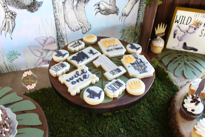 "Cookiescape from a ""Where the Wild Things Are"" Birthday Party on Kara's Party Ideas 