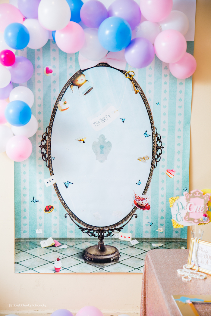 Alice in Wonderland Mirror from an Alice in Wonderland Tea Party on Kara's Party Ideas | KarasPartyIdeas.com (33)
