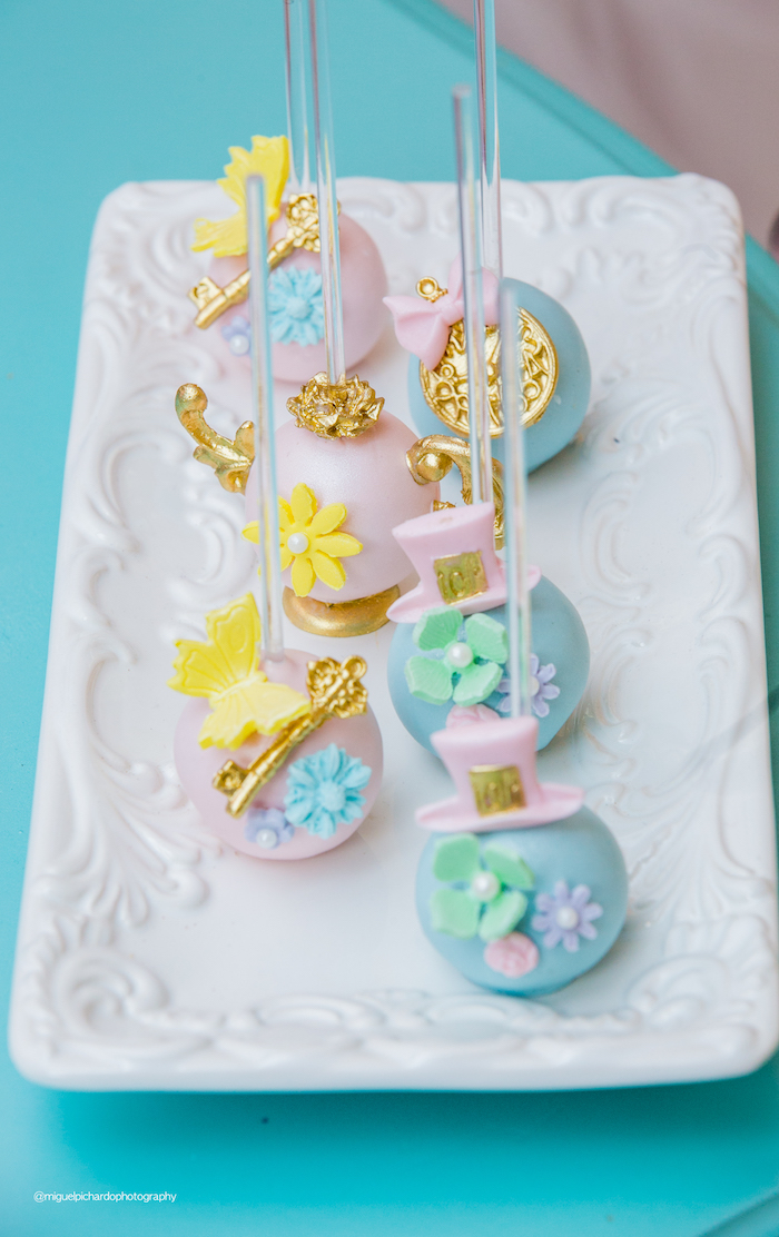 Alice in Wonderland Themed Cake Pops from an Alice in Wonderland Tea Party on Kara's Party Ideas | KarasPartyIdeas.com (22)