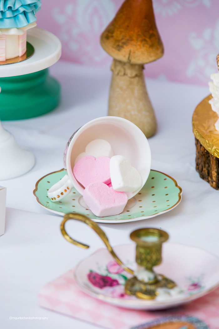 Marshmallow Hearts from an Alice in Wonderland Tea Party on Kara's Party Ideas | KarasPartyIdeas.com (17)