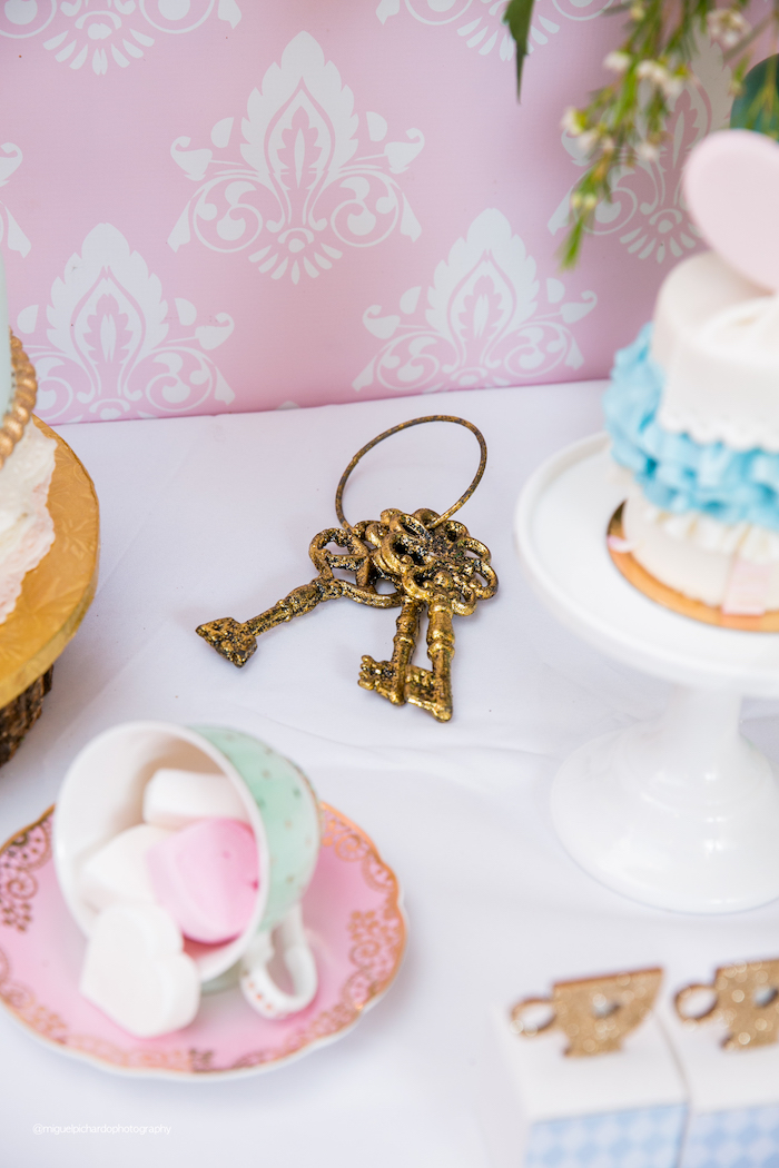 Vintage Keys from an Alice in Wonderland Tea Party on Kara's Party Ideas | KarasPartyIdeas.com (41)
