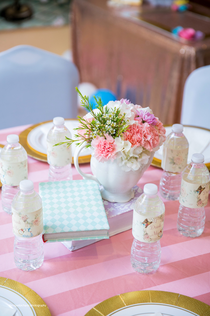 Guest Table from an Alice in Wonderland Tea Party on Kara's Party Ideas | KarasPartyIdeas.com (34)