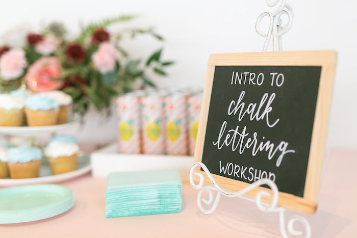 Chalk Lettering Workshop Craft Party on Kara's Party Ideas | KarasPartyIdeas.com (23)
