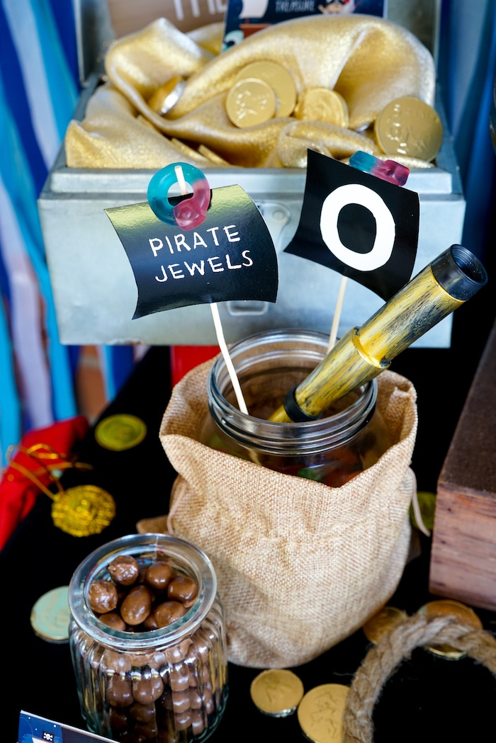 Pirate Jewels from a Classic Pirate Birthday Party on Kara's Party Ideas | KarasPartyIdeas.com (20)