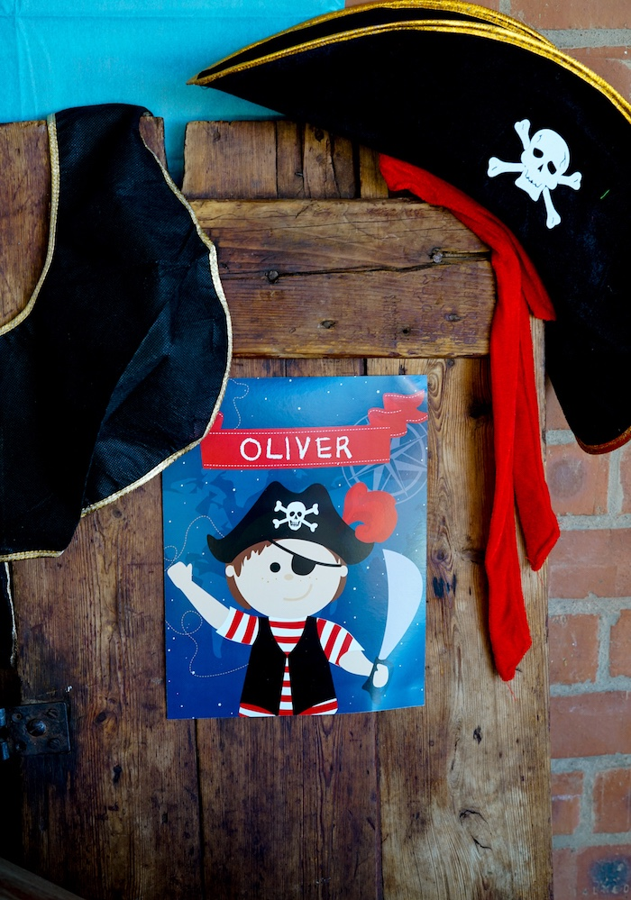 Personalized Pirate Sign from a Classic Pirate Birthday Party on Kara's Party Ideas | KarasPartyIdeas.com (15)
