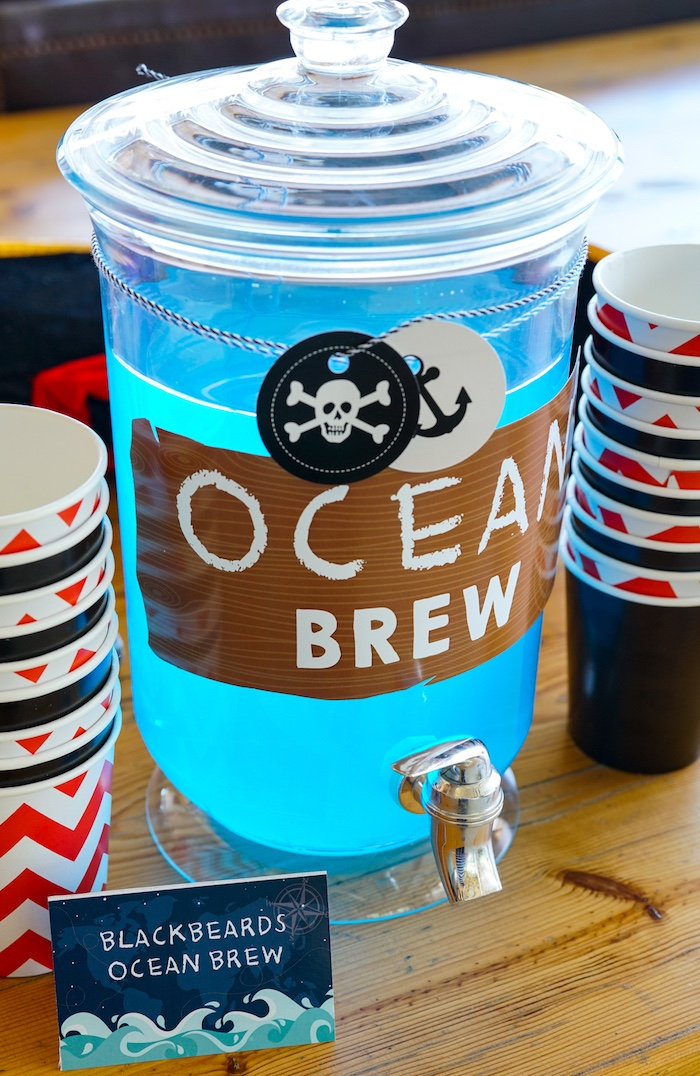 Ocean Brew from a Classic Pirate Birthday Party on Kara's Party Ideas | KarasPartyIdeas.com (11)