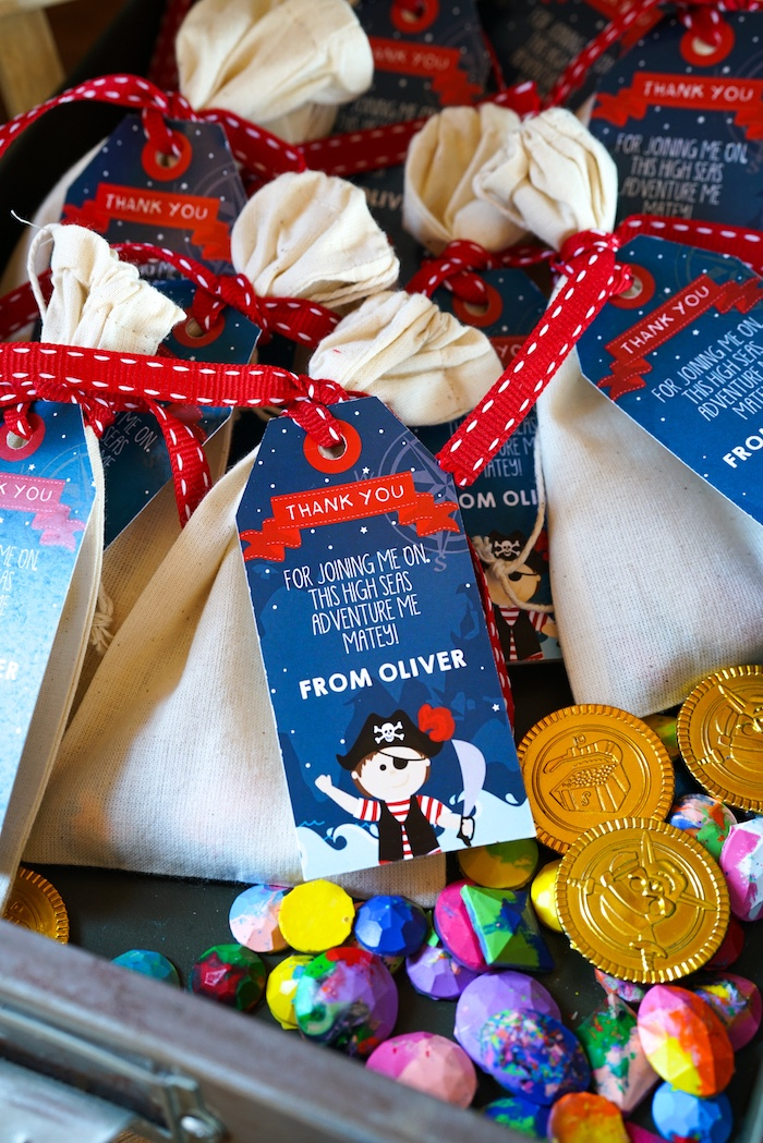 Loot Bag from a Classic Pirate Birthday Party on Kara's Party Ideas | KarasPartyIdeas.com (9)