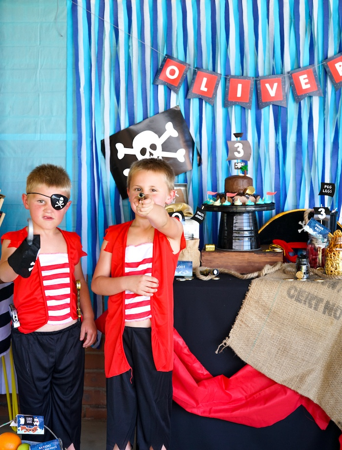 Classic Pirate Birthday Party on Kara's Party Ideas | KarasPartyIdeas.com (27)