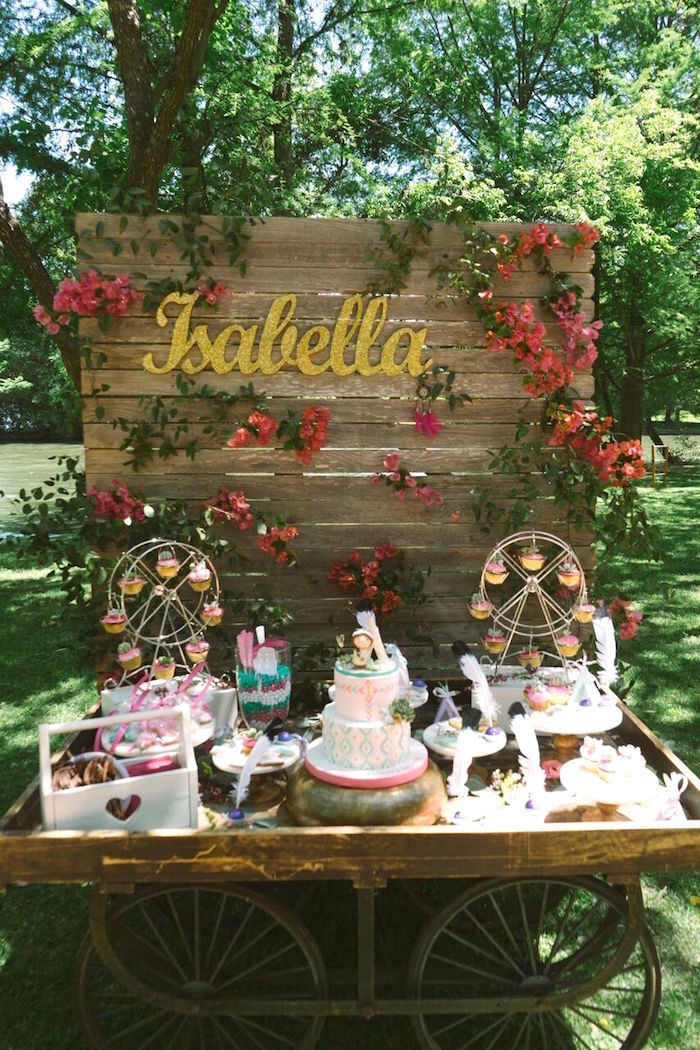 Boho Dessert Table from a Coachella Inspired Boho Birthday Party on Kara's Party Ideas | KarasPartyIdeas.com (7)