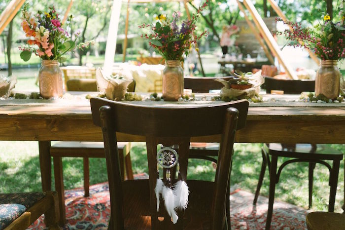 Guest table from a Coachella Inspired Boho Birthday Party on Kara's Party Ideas | KarasPartyIdeas.com (12)