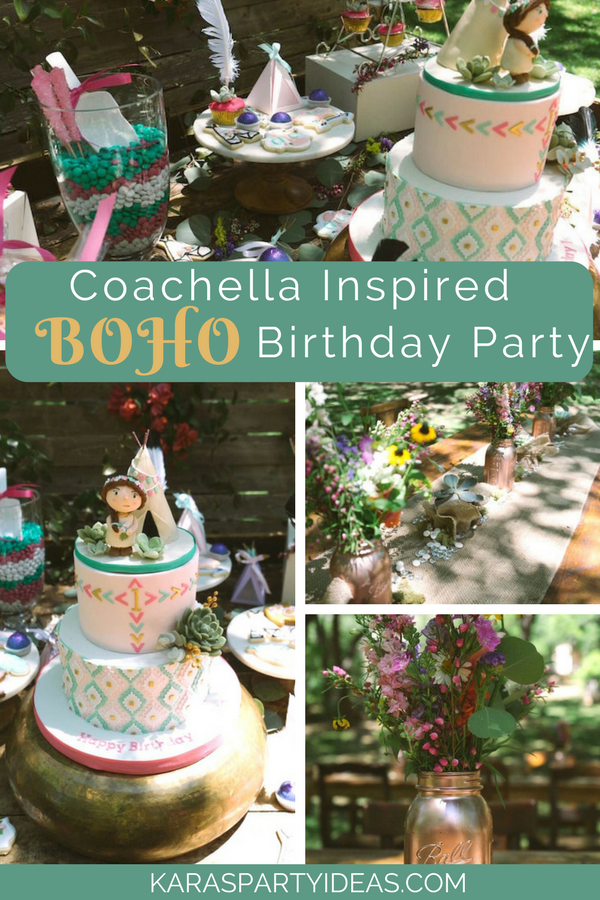 Coachella Inspired Boho Birthday Party via Kara's Party Ideas - KarasPartyIdeas.com