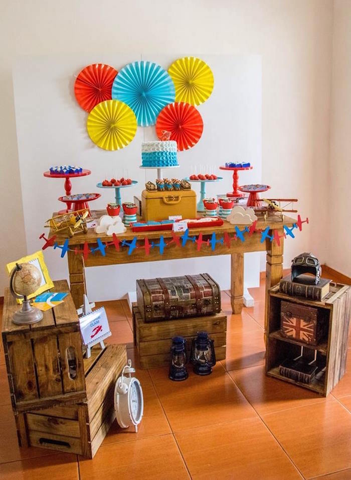 Colorful Aviator Birthday Party on Kara's Party Ideas | KarasPartyIdeas.com (11)