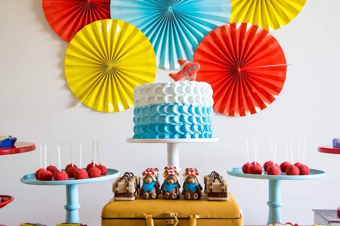 Kara S Party Ideas Colorful Aviator Birthday Party Kara