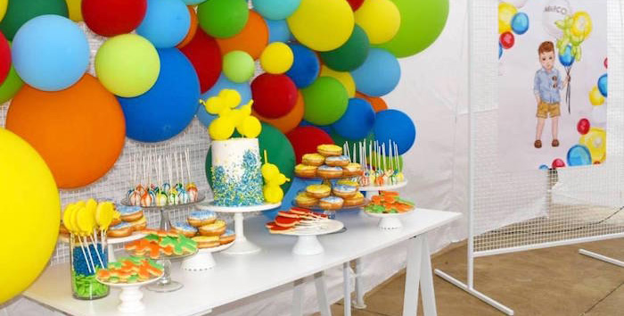 Colorful Balloon Birthday Party On Karas Ideas