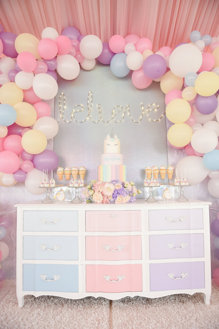 Dream, Believe & Wish Pastel Unicorn Birthday Party on Kara's Party Ideas | KarasPartyIdeas.com (15)