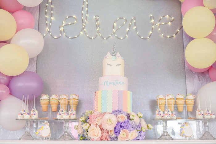 Dream, Believe & Wish Pastel Unicorn Birthday Party on Kara's Party Ideas | KarasPartyIdeas.com (30)
