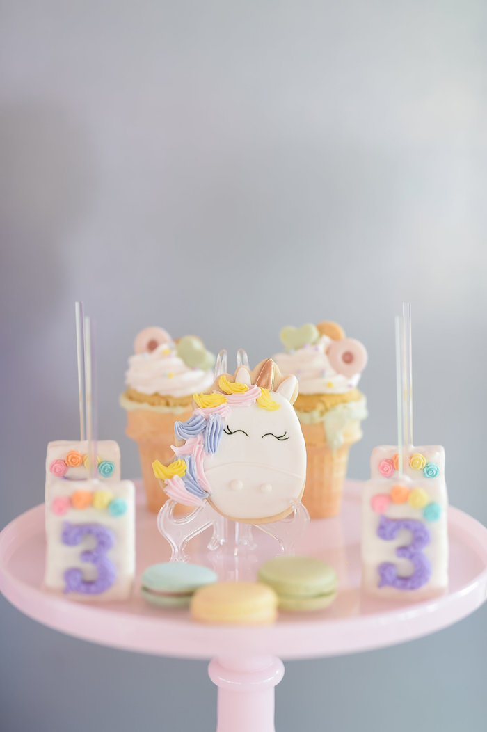 Dream, Believe & Wish Pastel Unicorn Birthday Party on Kara's Party Ideas | KarasPartyIdeas.com (29)