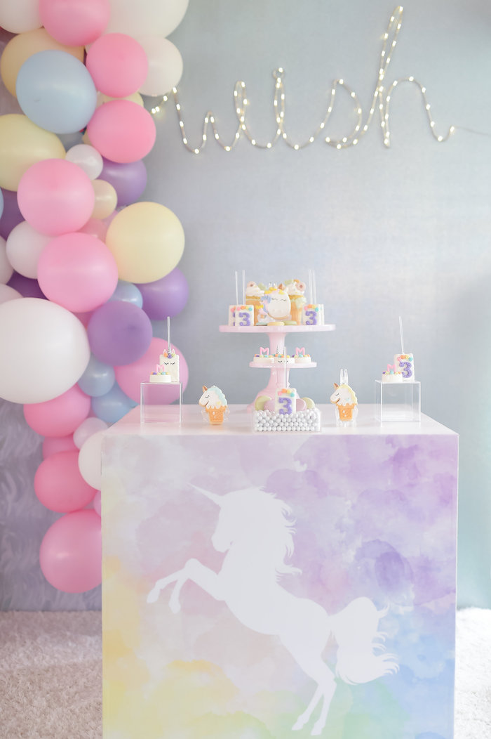 Dream, Believe & Wish Pastel Unicorn Birthday Party on Kara's Party Ideas | KarasPartyIdeas.com (27)