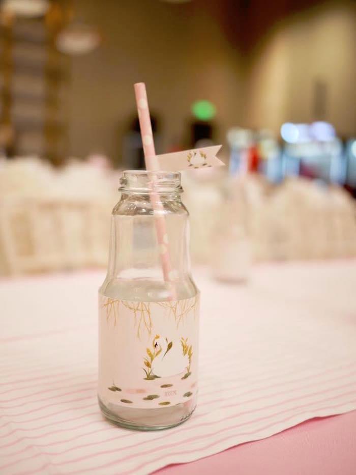Swan Drink Label from a Dreamy Swan Birthday Party on Kara's Party Ideas | KarasPartyIdeas.com (14)