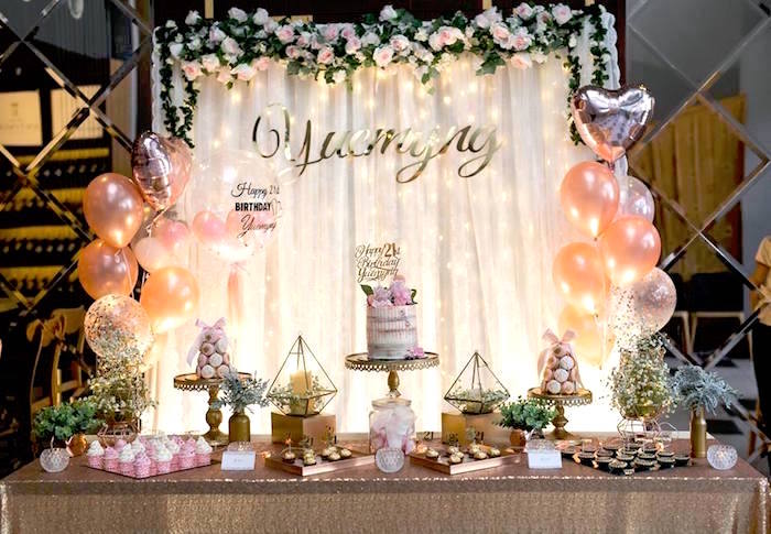 Elegant 21st Birthday Party on Kara's Party Ideas | KarasPartyIdeas.com (5)