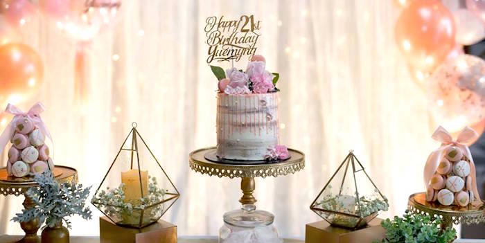 Elegant 21st Birthday Party on Kara's Party Ideas | KarasPartyIdeas.com (3)