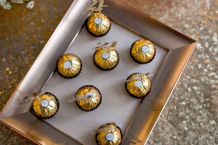 Ferrero Rocher Chocolates from an Elegant 21st Birthday Party on Kara's Party Ideas | KarasPartyIdeas.com (16)