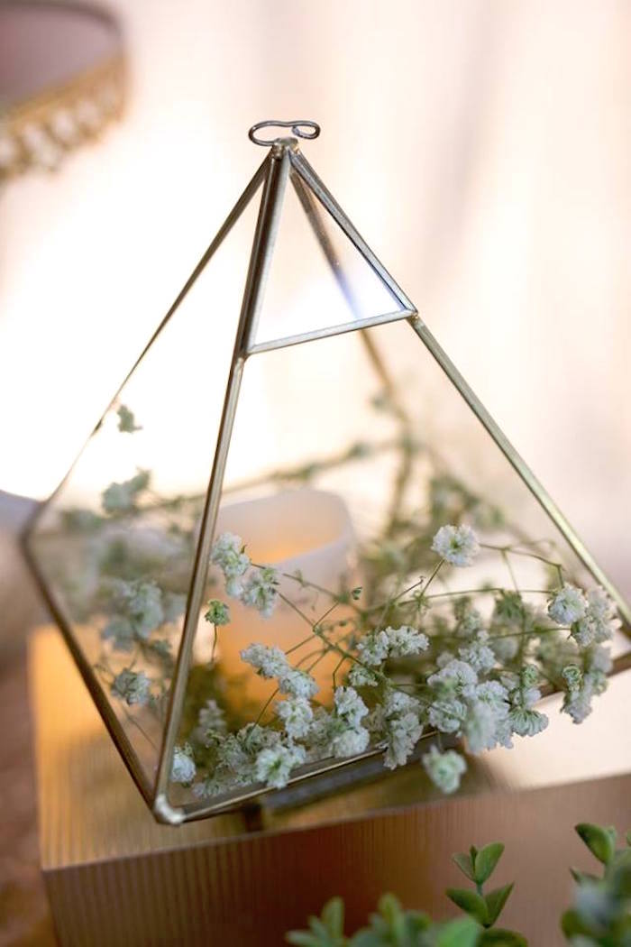 Gypsophila Centerpiece from an Elegant 21st Birthday Party on Kara's Party Ideas | KarasPartyIdeas.com (15)