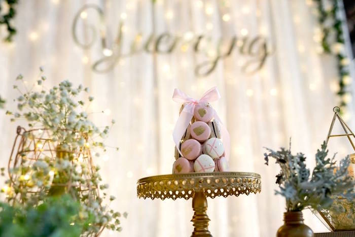 Macarons & blooms from an Elegant 21st Birthday Party on Kara's Party Ideas | KarasPartyIdeas.com (12)
