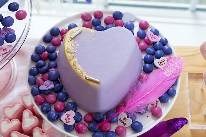 Boho Heart Cake from an Elegant Bohemian Valentine's Day Party on Kara's Party Ideas | KarasPartyIdeas.com (24)