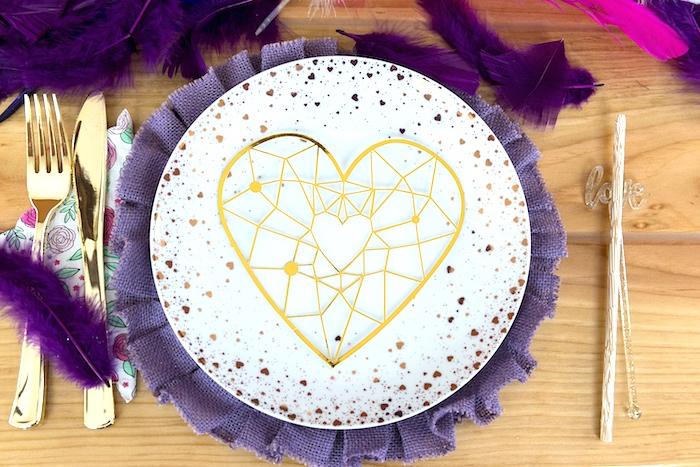 Boho Love Table Setting from an Elegant Bohemian Valentine's Day Party on Kara's Party Ideas | KarasPartyIdeas.com (23)