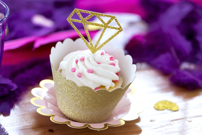 Boho Cupcake from an Elegant Bohemian Valentine's Day Party on Kara's Party Ideas | KarasPartyIdeas.com (21)