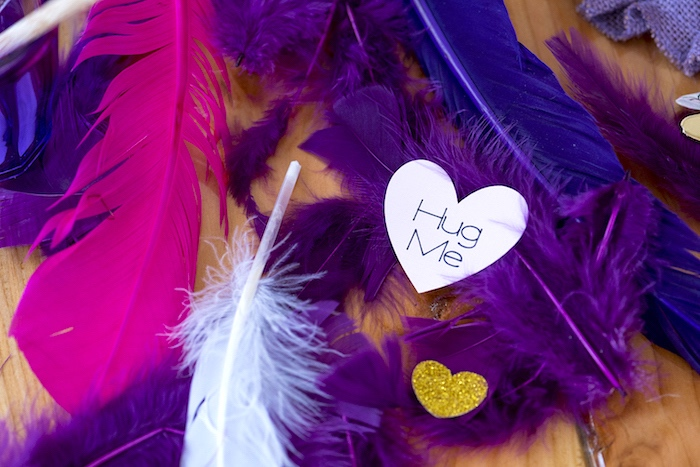 Feather & Heart Bunting from an Elegant Bohemian Valentine's Day Party on Kara's Party Ideas | KarasPartyIdeas.com (20)