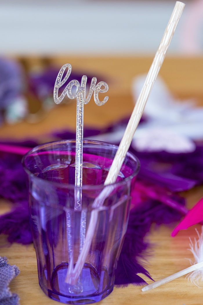Cup from an Elegant Bohemian Valentine's Day Party on Kara's Party Ideas | KarasPartyIdeas.com (19)
