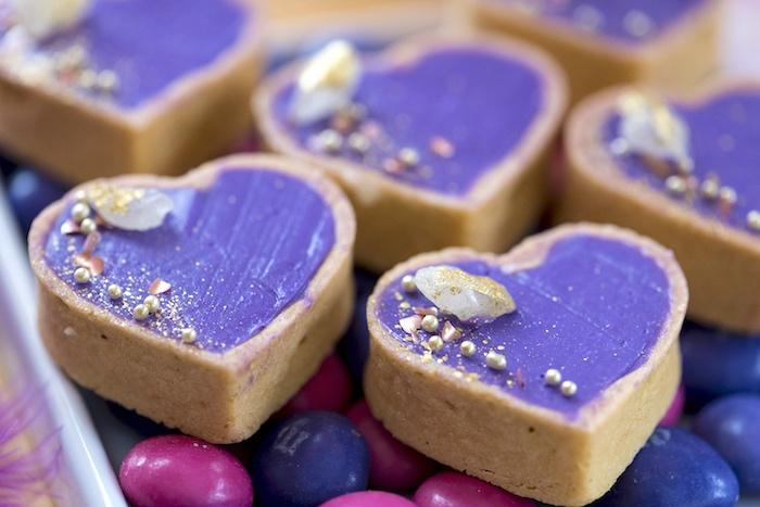 Boho Heart Tarts from an Elegant Bohemian Valentine's Day Party on Kara's Party Ideas | KarasPartyIdeas.com (18)