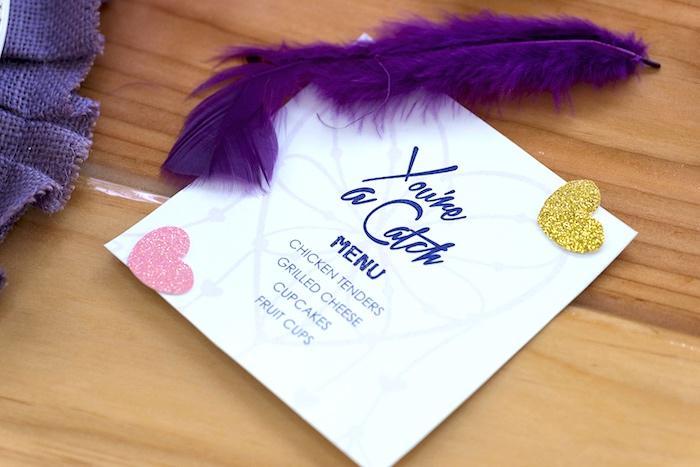 Boho Love Menu Card from an Elegant Bohemian Valentine's Day Party on Kara's Party Ideas | KarasPartyIdeas.com (17)