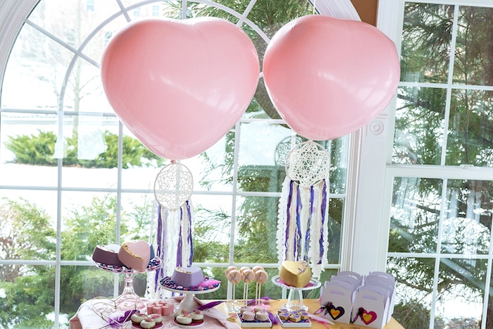 Boho V-Day Dessert Table from an Elegant Bohemian Valentine's Day Party on Kara's Party Ideas | KarasPartyIdeas.com (13)