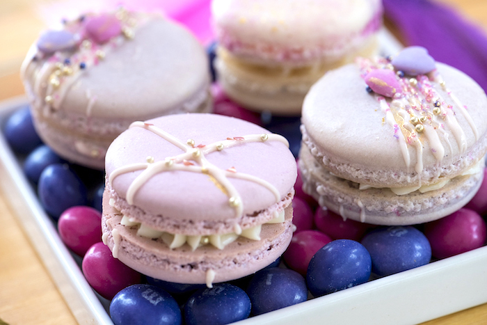 Boho Macarons from an Elegant Bohemian Valentine's Day Party on Kara's Party Ideas | KarasPartyIdeas.com (36)
