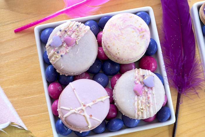 Boho Love Macarons from an Elegant Bohemian Valentine's Day Party on Kara's Party Ideas | KarasPartyIdeas.com (33)