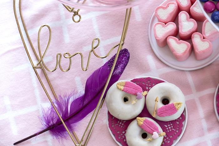 Elegant Bohemian Valentine's Day Party on Kara's Party Ideas | KarasPartyIdeas.com (30)