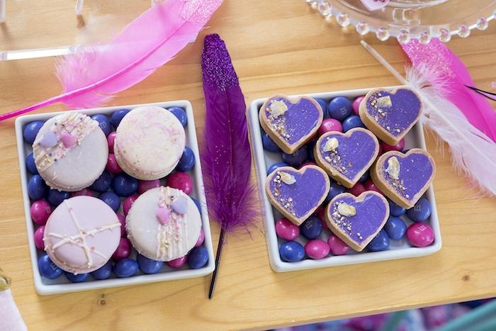 Macarons & Tarts from an Elegant Bohemian Valentine's Day Party on Kara's Party Ideas | KarasPartyIdeas.com (29)