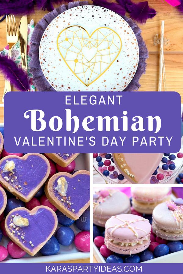 Elegant Bohemian Valentine's Day Party via Kara's Party Ideas - KarasPartyIdeas.com