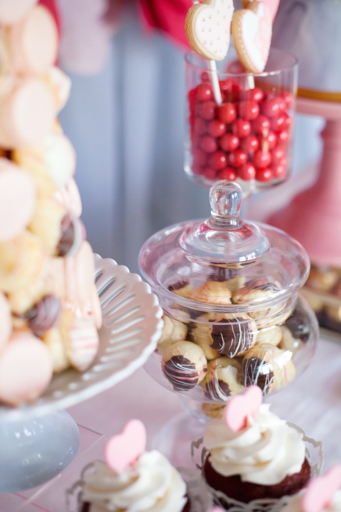 Sweets from an Elegant Valentine's Day Dessert Table on Kara's Party Ideas | KarasPartyIdeas.com (5)