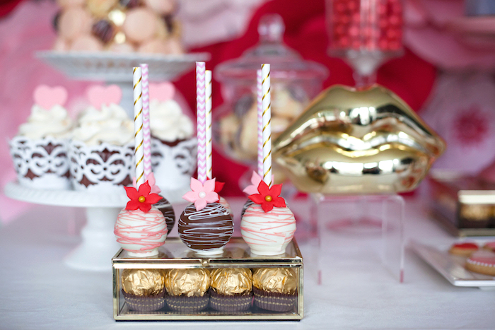 Cake Pops from an Elegant Valentine's Day Dessert Table on Kara's Party Ideas | KarasPartyIdeas.com (14)