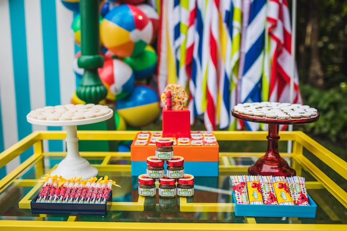 Sweet table from Elmo's Super Splash Birthday Party on Kara's Party Ideas | KarasPartyIdeas.com (15)