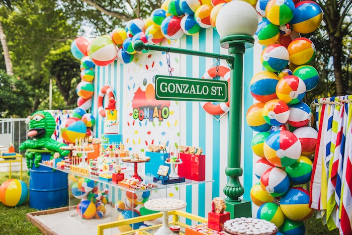 Elmo's Super Splash Birthday Party on Kara's Party Ideas | KarasPartyIdeas.com (14)