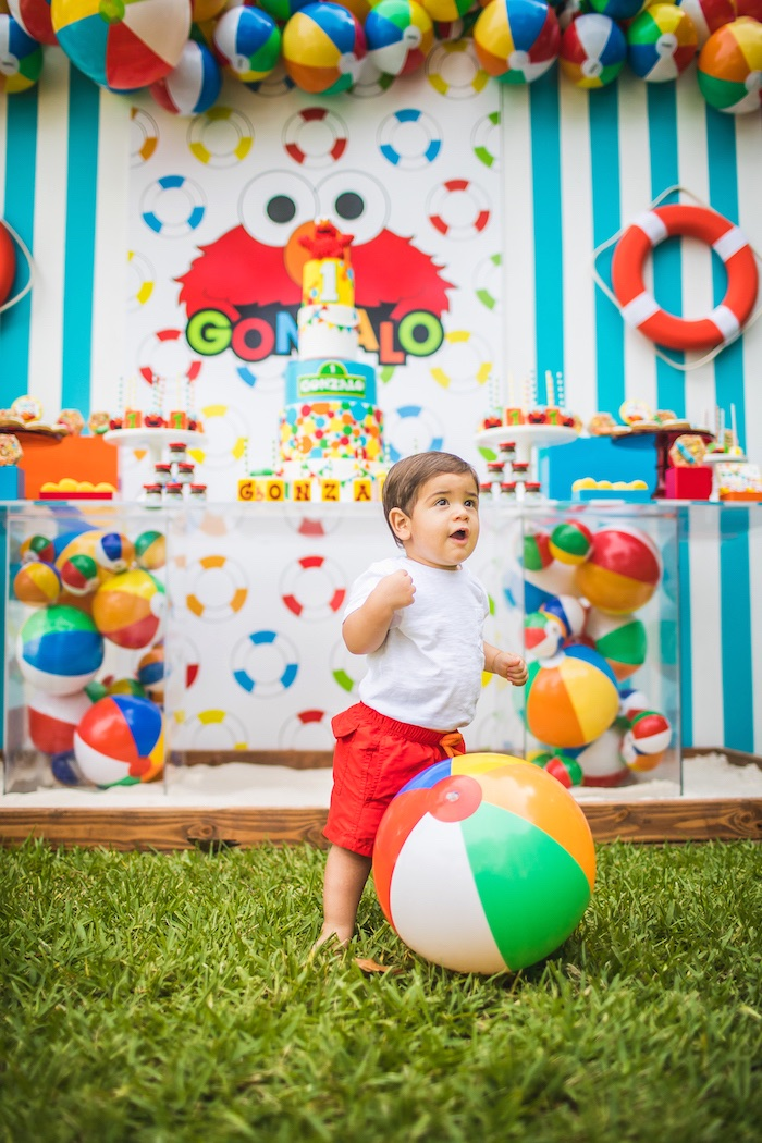 Elmo's Super Splash Birthday Party on Kara's Party Ideas | KarasPartyIdeas.com (4)